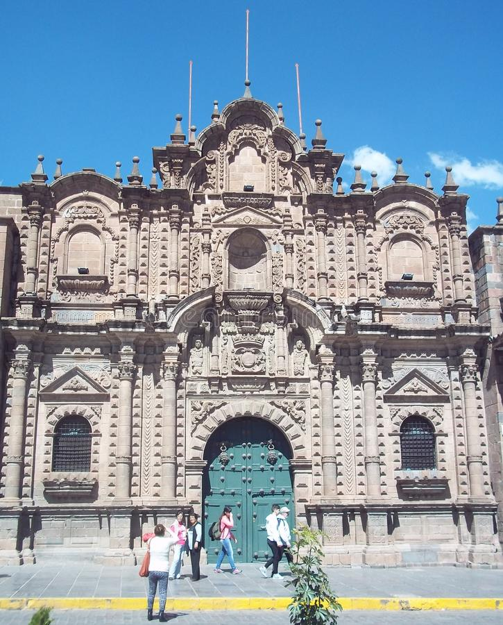 Église baroque de style dans Cuzco, Pérou photo stock