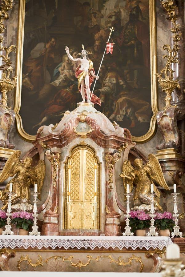 Église baroque Lindau d'autel photo stock