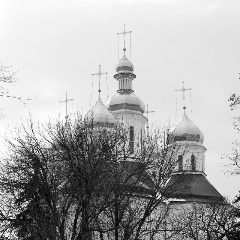 Église Belle église en hiver photo libre de droits