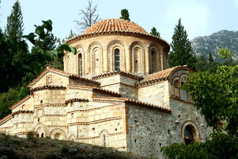 Église bizantine dans Mystra photos stock