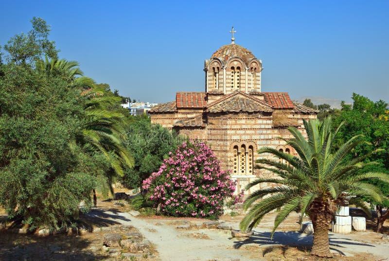Église bizantine les apôtres saints de Solakis image libre de droits