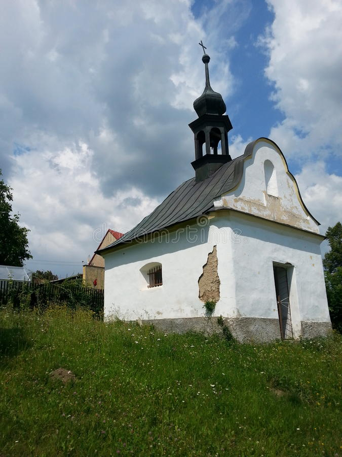 Église blanche images stock