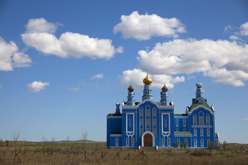 Église bleue images libres de droits