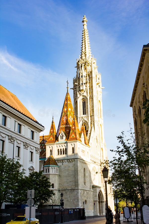 Église Budapest de rue Matthias photo libre de droits