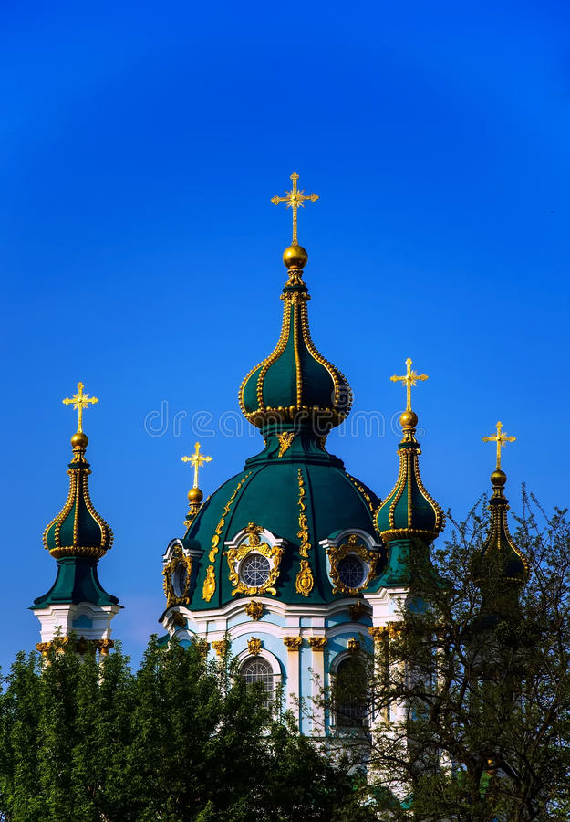 Église célèbre d'Andriivska photos stock