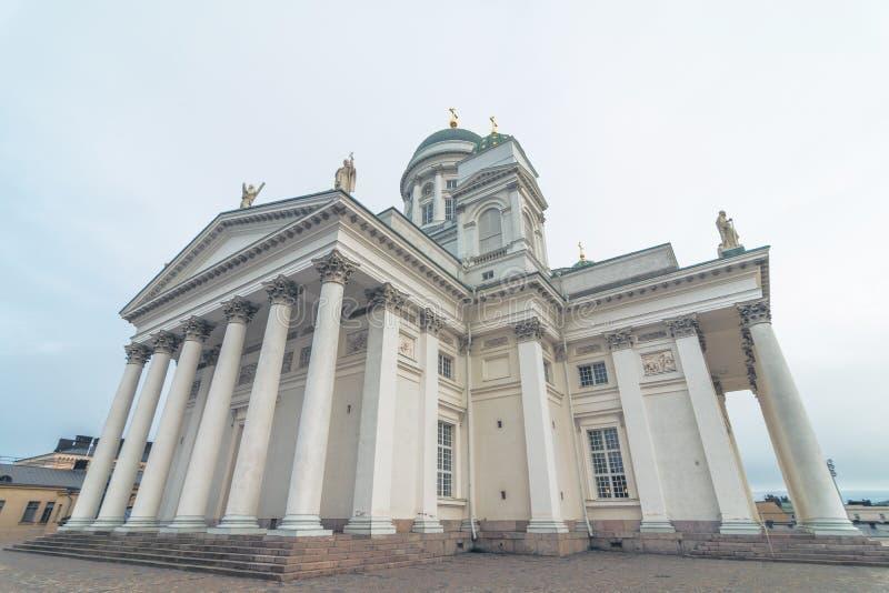 Église célèbre Helsinki, Finlande de St Nicholas Cathedral Lutheran de Helsinki images libres de droits