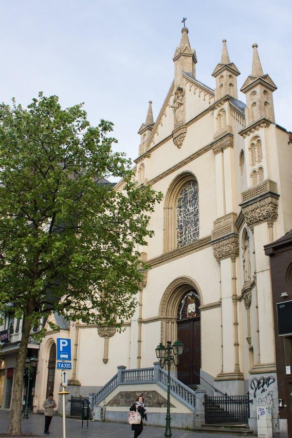 Église carmélite, Bruxelles, Belgique photographie stock libre de droits