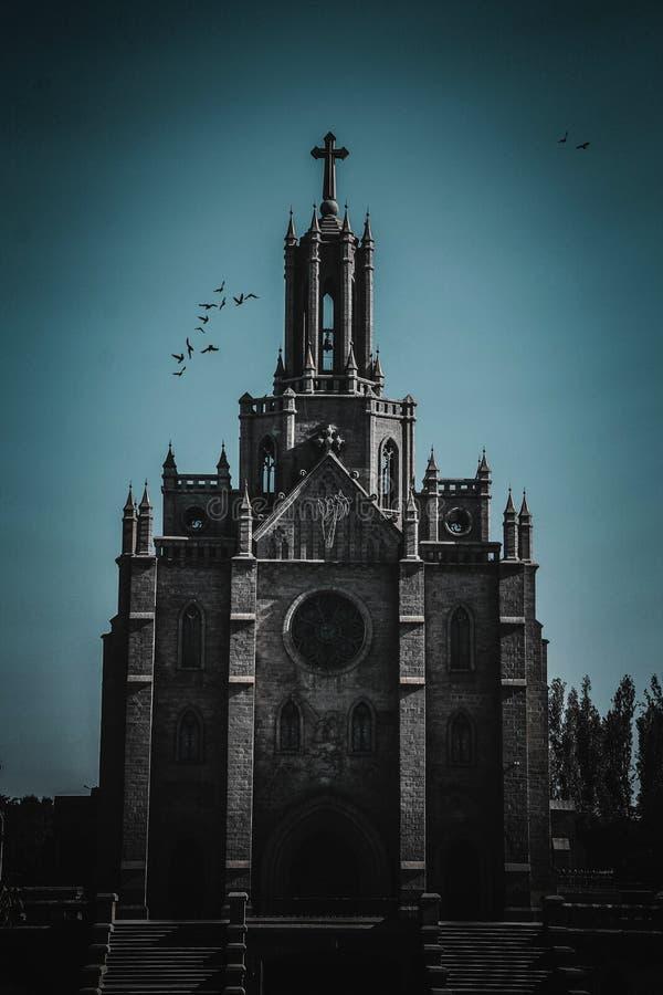 Église catholique à Tashkent images libres de droits