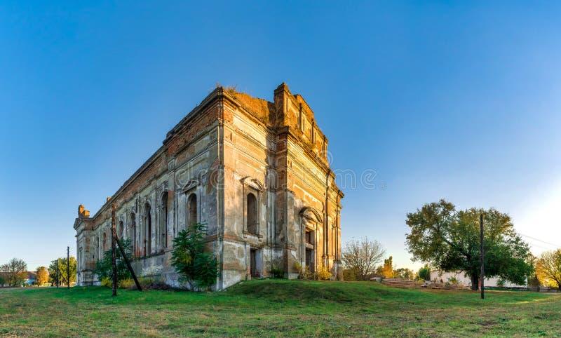 Église catholique abandonnée de Zelts, Ukraine photo stock