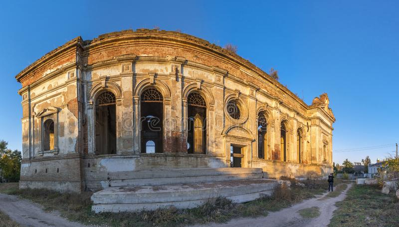 Église catholique abandonnée de Zelts, Ukraine photo stock