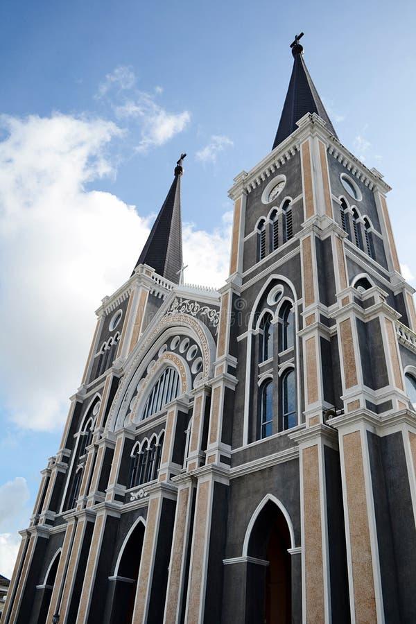 Église catholique Chanthaburi photo stock