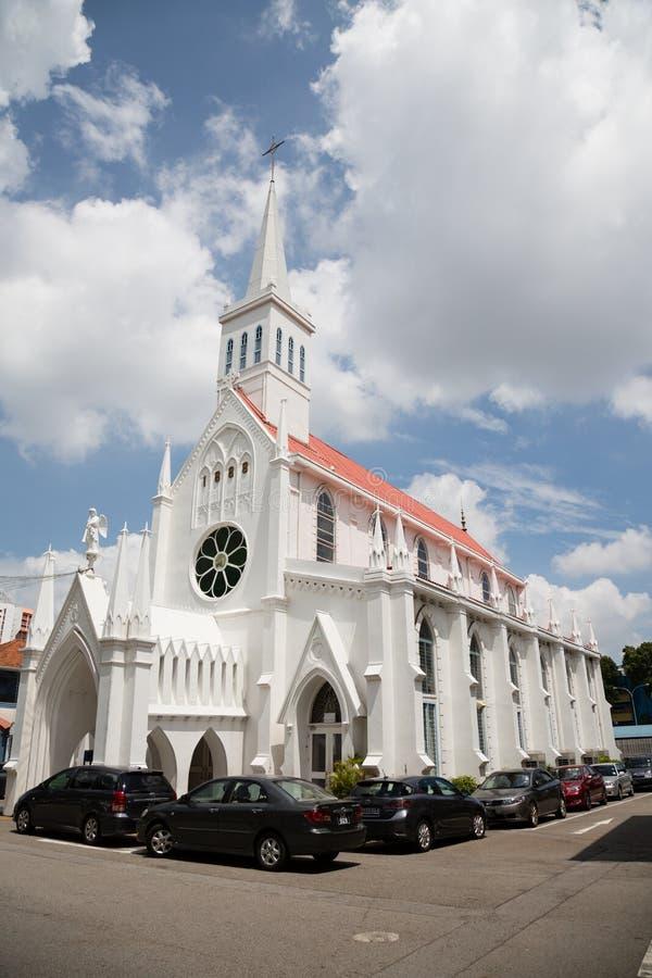 Église catholique de notre Madame de Lourdes à Singapour photo stock
