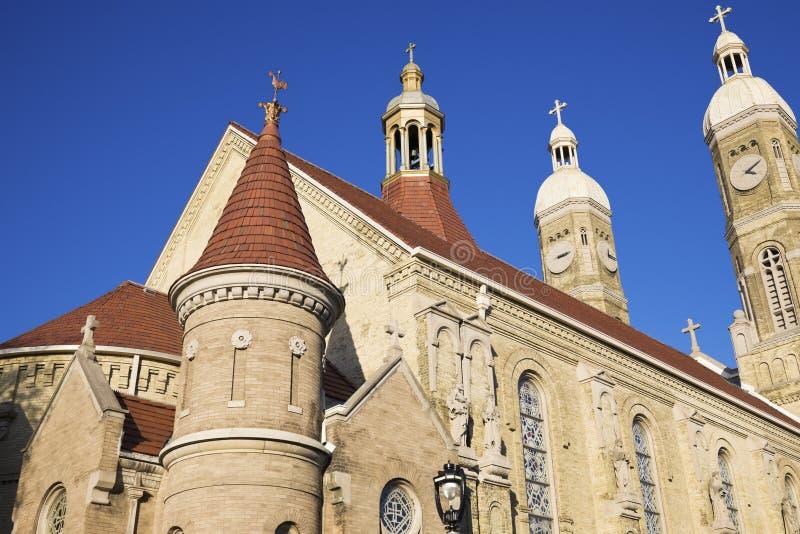Église catholique de rue Stanislaus à Milwaukee images libres de droits