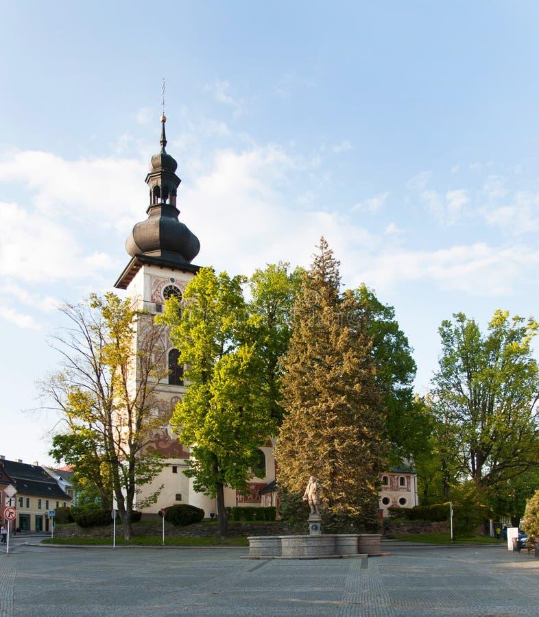 Église catholique de saint Cunigunde dans la République Tchèque photos libres de droits