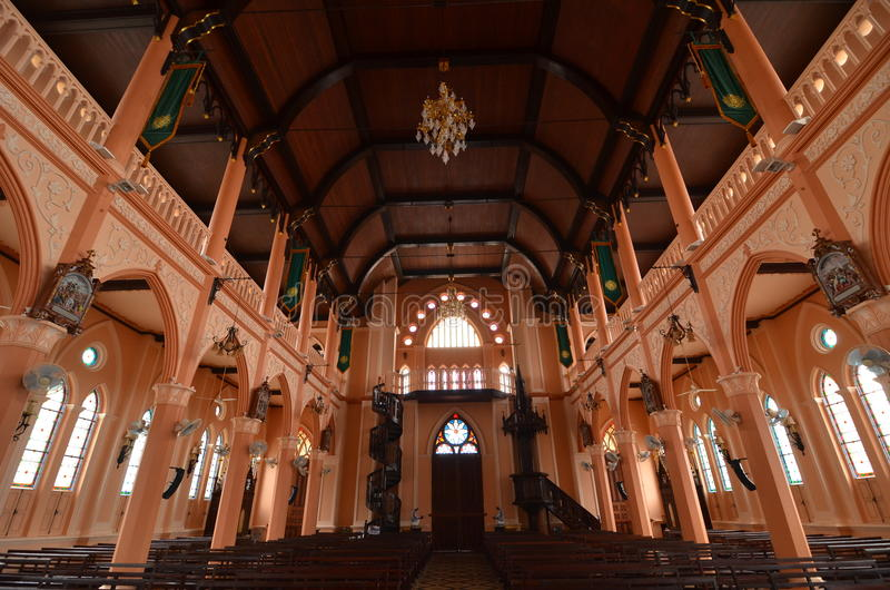 Église catholique de vieillesse en Thaïlande photos stock