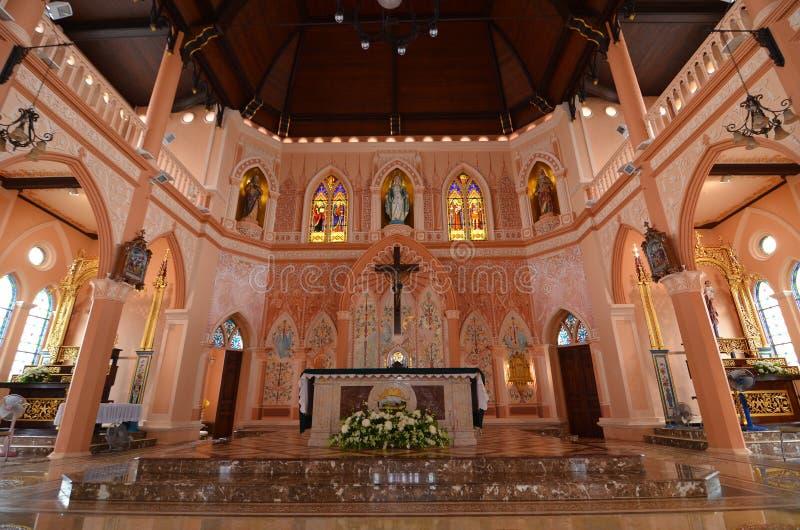 Église catholique de vieillesse en Thaïlande photo stock