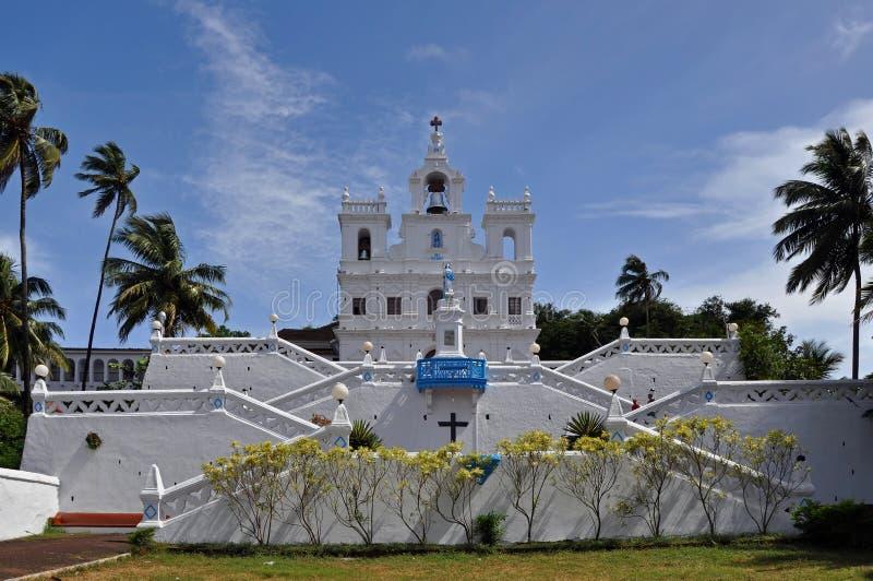 Église catholique en Inde photographie stock libre de droits