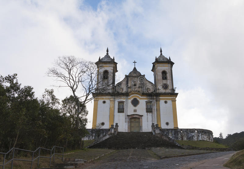 Église catholique en Minas Gerais, Brésil photo libre de droits
