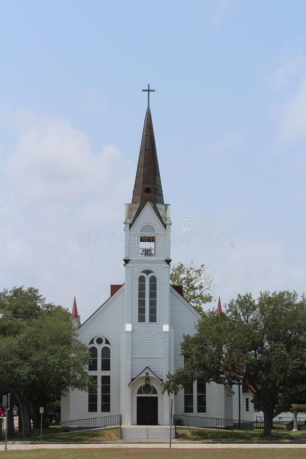 Église catholique historique Refugio Texas images libres de droits