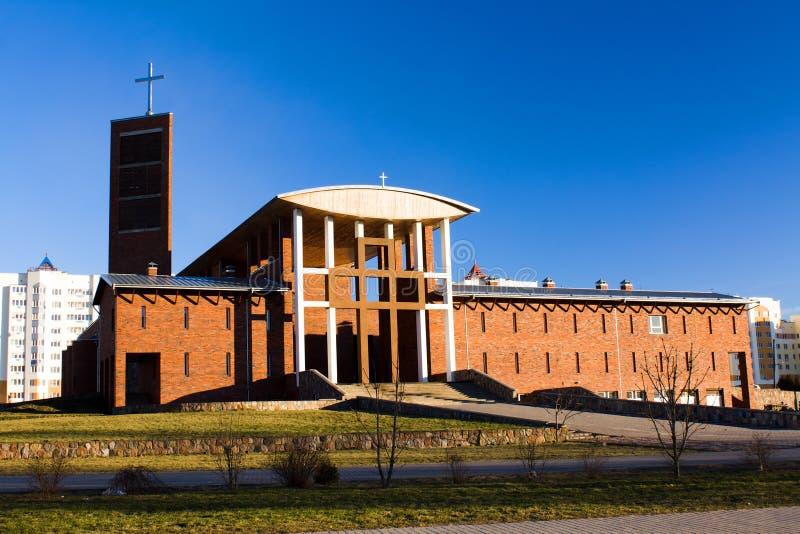 Église catholique moderne photo libre de droits