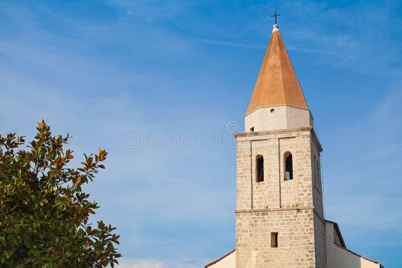 Église catholique romaine dans Krk, Croatie photo libre de droits