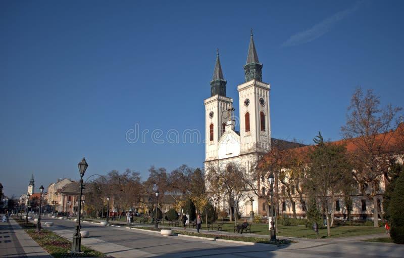 Église catholique romaine, Sombor, Serbie photos libres de droits