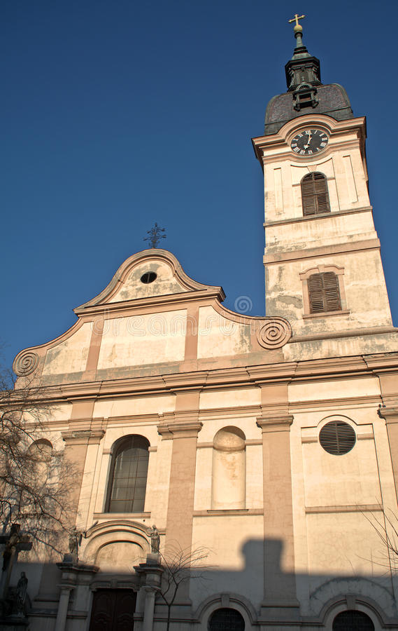 Église catholique romaine, Sombor, Serbie image stock