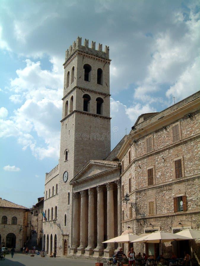 Église chez Assisi photo libre de droits