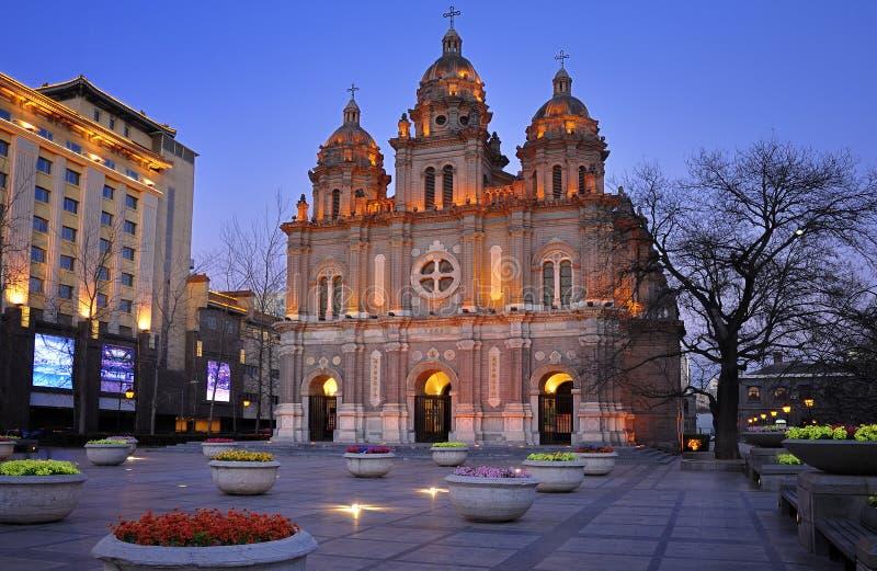 Église chinoise de Wangfujing, Pékin, Chine photos libres de droits