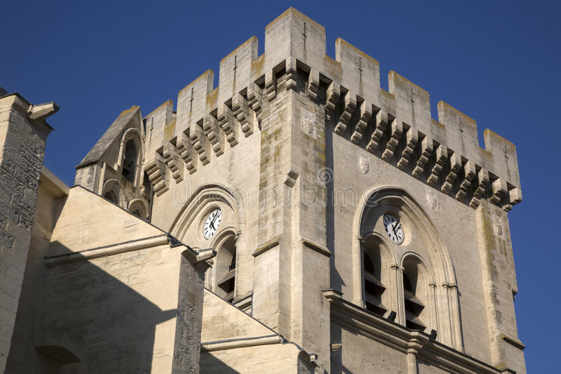 Église collégiale Notre Dame, les Avignon de Villeneuve images libres de droits