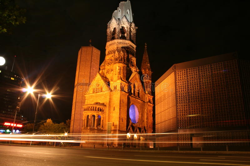 Église commémorative de Kaiser Wilhelm à Berlin photographie stock
