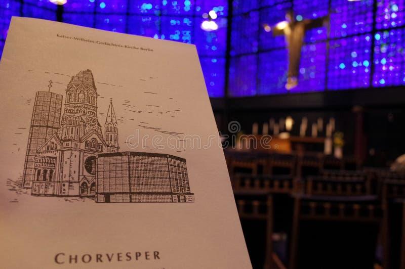 Église commémorative de Kaiser Wilhelm, Berlin photographie stock libre de droits