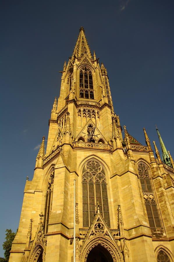 Église commémorative de la protestation dans Speyer photographie stock libre de droits