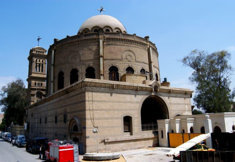 Église copte s'arrêtante au Caire images libres de droits