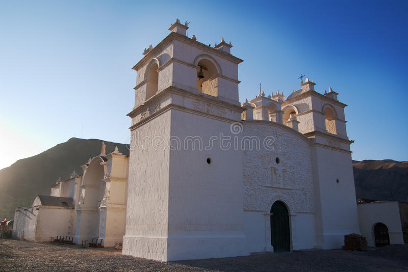 Église d'Achoma en vallée de Colca photographie stock
