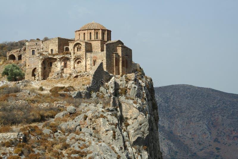 Église d'Agia Sofia dans Monemvasia images libres de droits