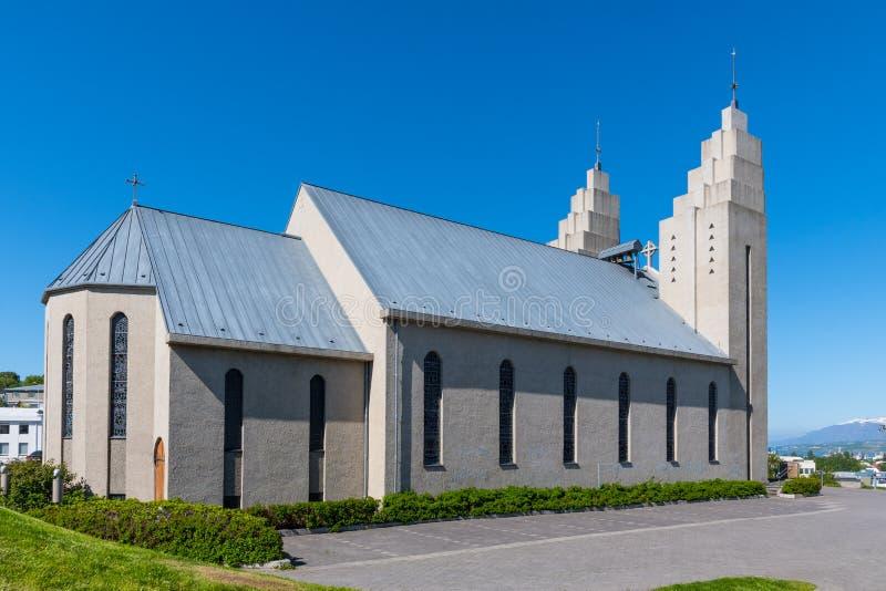 Église d'Akureyri en Islande images stock