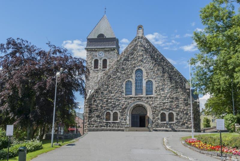 Église d'Alesund en Norvège image libre de droits