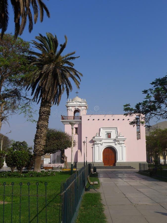 Église d'Ancon dans la station balnéaire de Lima photographie stock