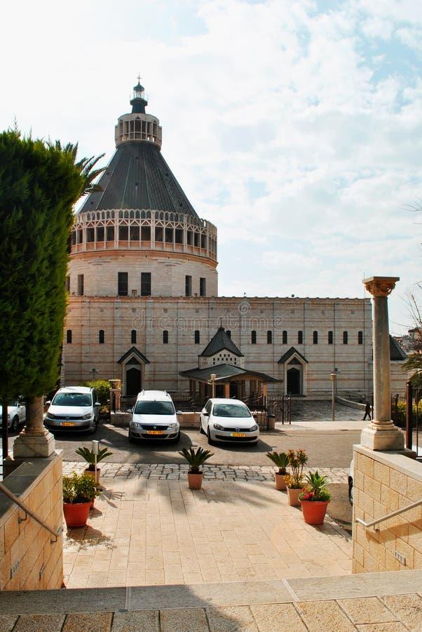 Église d'annonce en Galilée Israël photographie stock libre de droits