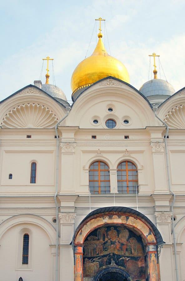 Église d'archanges à Moscou Kremlin Site de patrimoine mondial de l'UNESCO images stock