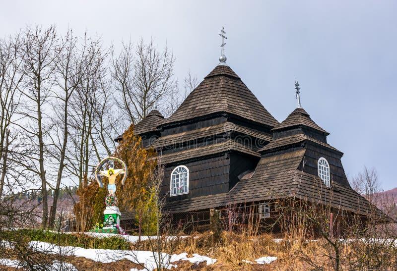 Église d'Arkhangel Michael, Uzhok, Ukraine images libres de droits