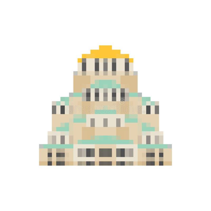 Église d'art de pixel de St Alexander Nevsky Bit du point de repère 8 de Sofia illustration libre de droits