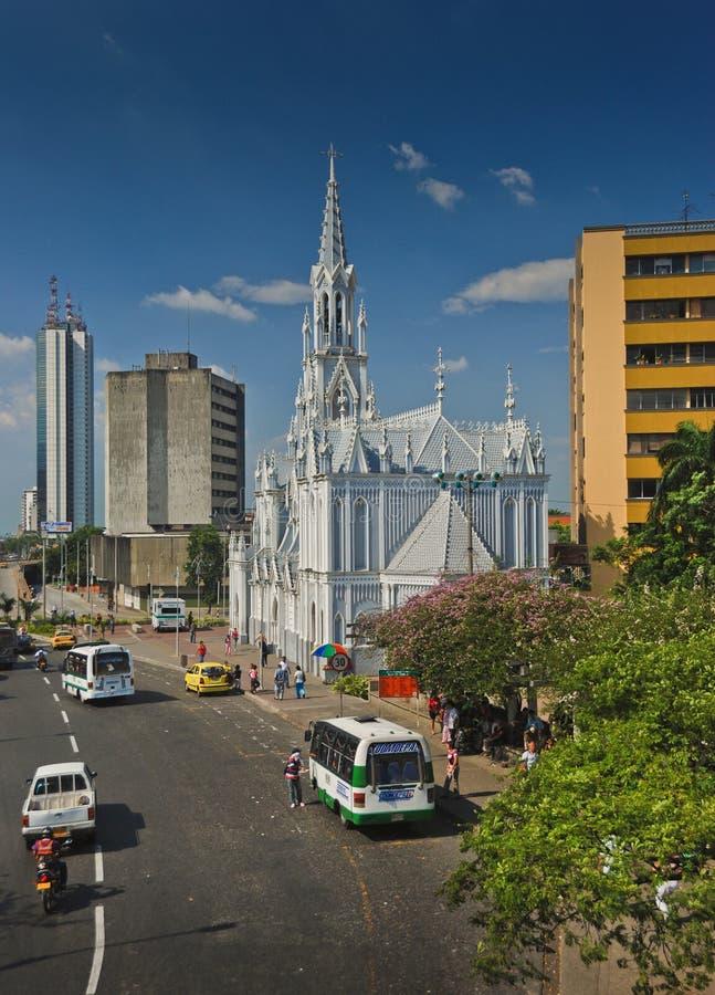 Église d'Ermita de La, Cali du centre - Colombie image stock