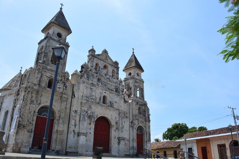 Église d'Iglesia De Guadalupe à Grenade, Nicaragua image stock