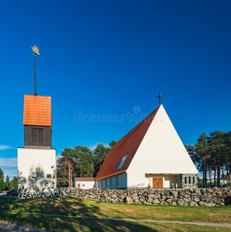 Église d'II, Ostrobothnia du nord, Finlande image stock