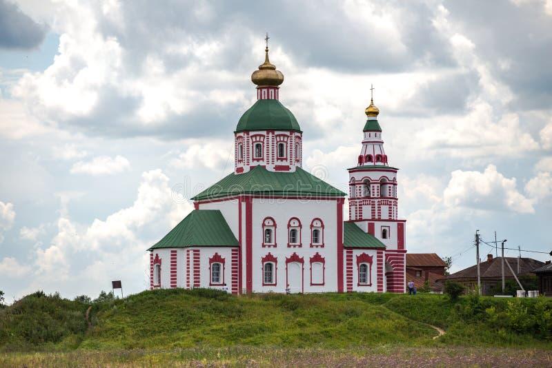 Église d'Ilyinskaya dans la ville de Suzdal, Russie images stock