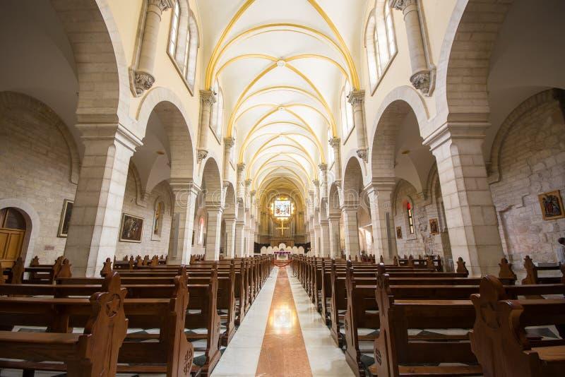 Église d'intérieur de St Catherine à l'église du compl de nativité photo libre de droits