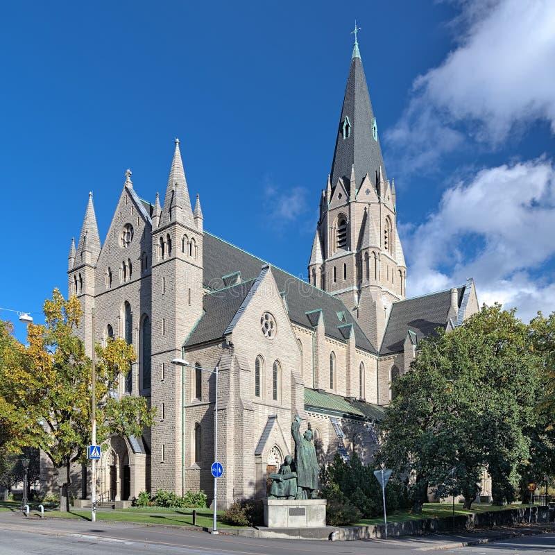 Église d'Olaus Pétri dans Orebro, Suède images libres de droits