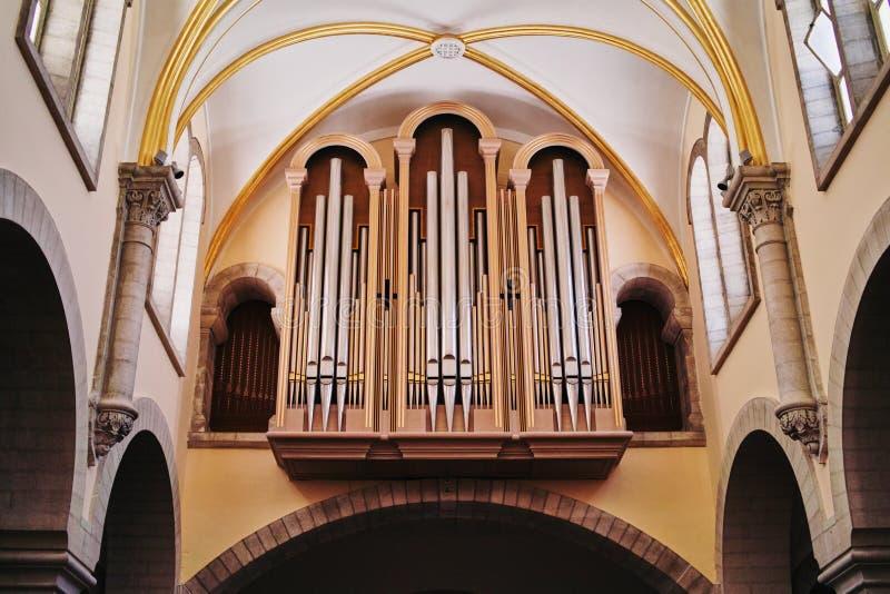 Église d'organe de tuyau de la nativité Bethlehem photographie stock libre de droits